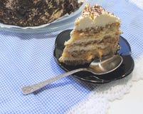 Gâteau de Tiramisu Photographie stock libre de droits