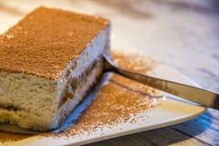 Gâteau de Tiramisu Photo stock