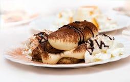 Gâteau de tiramisu en café italien Photo libre de droits