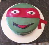 Gâteau de tortue de Ninja Photos libres de droits
