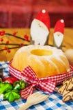 Gâteau de turban de Noël Photographie stock libre de droits