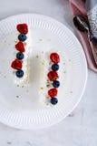 Gâteau de vacherin Images libres de droits