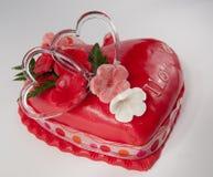 Gâteau de Valentine Images libres de droits