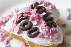Gâteau de Valentine Image libre de droits