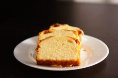 Gâteau de vanille Images libres de droits