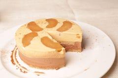 Gâteau de vanille Photos libres de droits