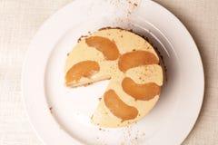 Gâteau de vanille Images stock