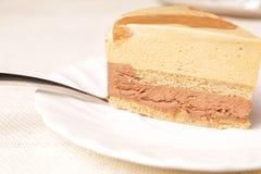 Gâteau de vanille Photographie stock