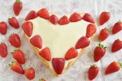 Gâteau de vanille de fraise Photo stock
