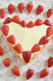 Gâteau de vanille de fraise Images stock
