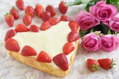 Gâteau de vanille de fraise Image stock