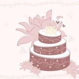 Gâteau de vecteur Photos libres de droits