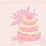 Gâteau de vecteur Photos stock