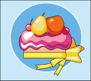 Gâteau de vecteur avec le fruit Photos stock
