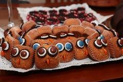 Gâteau de Veille de la toussaint Photographie stock libre de droits