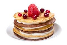 Gâteau des crêpes Photographie stock