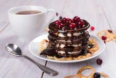 Gâteau des crêpes Photos stock