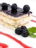Gâteau des mûres Photo stock