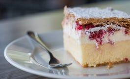 Gâteau doux de baie sur un macro foyer sélectif de plat Photo libre de droits