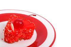Gâteau doux de gelée sous forme de coeurs avec des baies Photo libre de droits