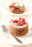 Gâteau doux de lave Photographie stock libre de droits