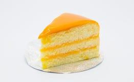 Gâteau doux fait maison de beurre avec la source orange image stock