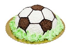 Gâteau du football Photo stock