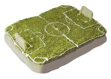Gâteau du football Photos stock