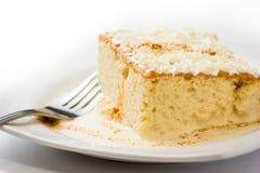 Gâteau du lait trois photographie stock