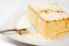 Gâteau du lait trois Photos stock