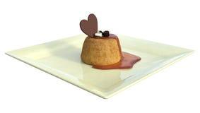 gâteau du rendu 3D sur le blanc Image stock
