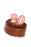 Gâteau : Durcissez pour célébrer le 20ème anniversaire Images stock