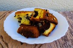 Gâteau effectué par maison Photo libre de droits