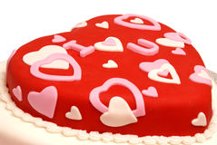 Gâteau en forme de coeur Photos stock