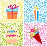 Gâteau et cadeau Photo libre de droits