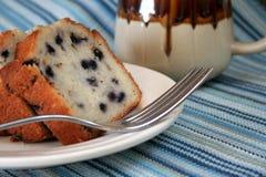 Gâteau et café Photographie stock
