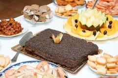 Gâteau et de la nourriture Photos stock