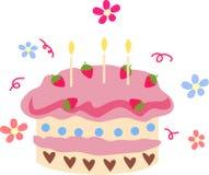 Gâteau et fleur Images libres de droits