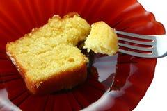 Gâteau et fourchette photos stock