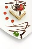 Gâteau et fraise photographie stock