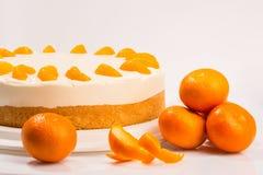 Gâteau et fruit Photos stock