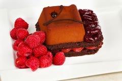 Gâteau et prunes Images libres de droits