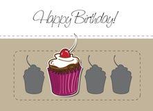 Gâteau et trois silhouettes Images stock