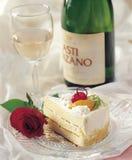 Gâteau et vigne Image stock
