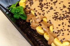 Gâteau exclusif de tiramisu Image stock