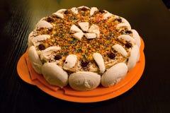 Gâteau fait main Photographie stock libre de droits