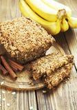 Gâteau fait maison de banane Images stock