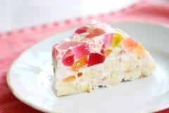 Gâteau fait maison de gelée Image libre de droits
