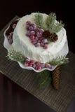 Gâteau fait maison de Noël Photos stock