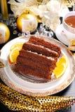 Gâteau fait maison de pain d'épice pour Noël Photo stock